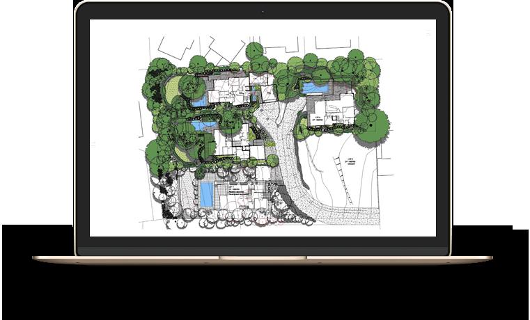 Architect design on laptop